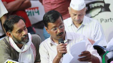 Arvind Kejriwal had alleged that BJP is resorting to dishonest and highly unethical methods of trying to form the government. (Source: Express Photo by Tashi Tobgyal)