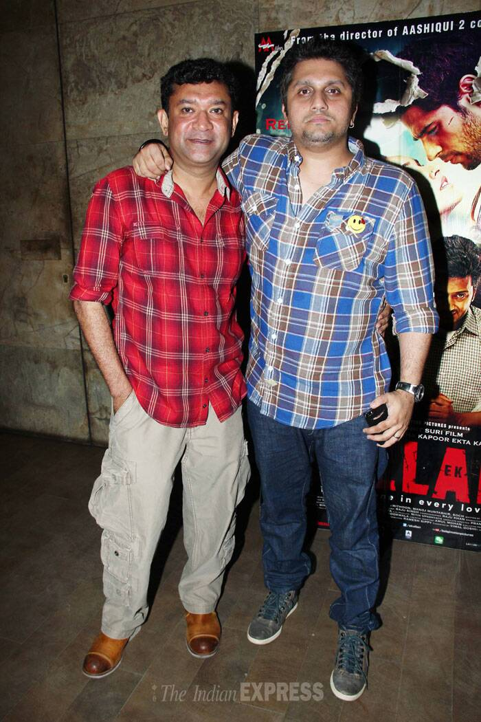 'Ek Villain' director Mohit Suri poses for a picture along with fellow director Ken Ghosh. (Source: Varinder Chawla)