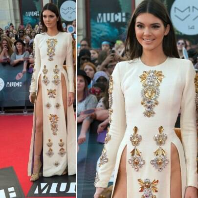 Kim Kardashian's teenage sister Kendall Jenner reveals all in risque gown