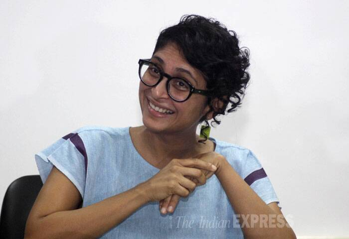 Filmmaker Kiran Rao spoke about her love for cinema, art, her future projects and being married to Mr. Perfectionist, Aamir Khan at the Indian Express Idea Exchange held in Mumbai on Tuesday (June 17). (Source: Express photo by Vasant Prabhu)