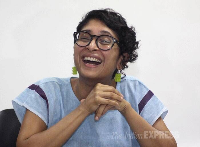 "On how she maintains the balance between mainstream and independent cinema, Kiran Rao said, ""I've always been on the other side. I'm just married to the mainstream. Otherwise I've never really watched too much mainstream film or read mainstream literature."" (Source: Express photo by Vasant Prabhu)"