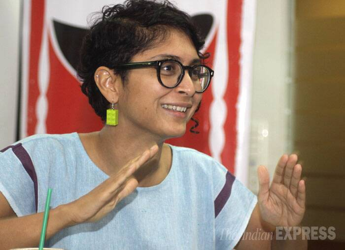 """I'm struggling now with the film that I'm working on. I'm trying to make it more broad based,"" said Aamir Khan's wife Kiran Rao. (Source: Express photo by Vasant Prabhu)"