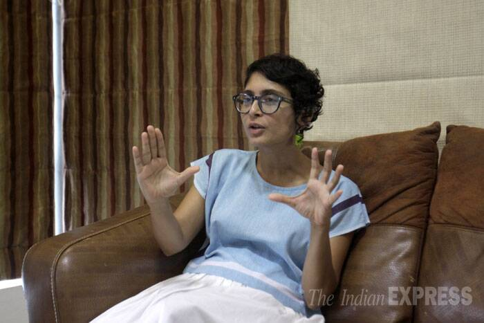 "Being married to one of Bollywood's biggest stars Aamir Khan, Kiran Rao said she has slowly come to terms with typical Bollywood cinema. ""I started out really cold and I had to dismantle a lot of ideas I had. I like a lot of the work Aamir does but sometimes I need to suspend my disbelief and get into popular cinema. But by now I have found a way to watch his stuff without it being completely alien to me."" (Source: Express photo by Vasant Prabhu)"