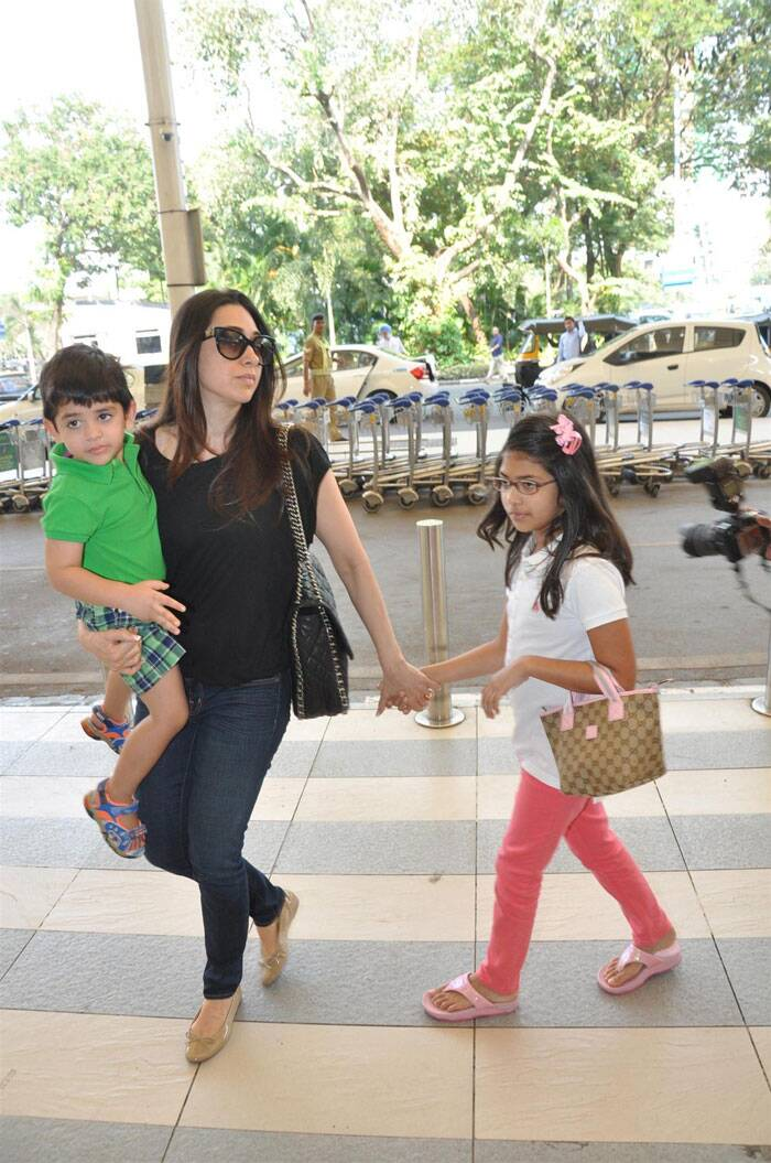 The divorced couple have two children together Samaira Kapoor (2005) and Kiaan Raj Kapoor (2010). (Express archive photo)