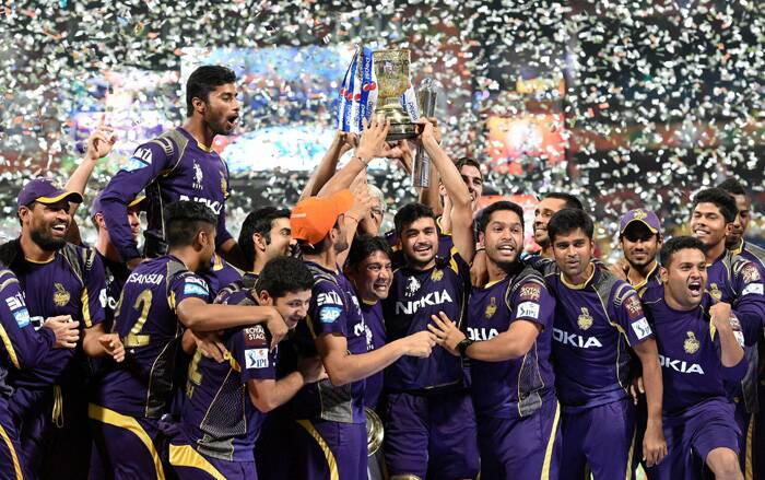 The script of the final unfolded with many twists and turns but KKR held their nerves in the final overs to cross the line in the final over. It was the collective effort of the players, staff and management to make this happen. All the hard work payed-off on Sunday. KKR co-owner Shah Rukh Khan told after the win that they always believed in the team's ideology of  'Korbo Lorbo Jeetbo.' (Source: BCCI/IPL)
