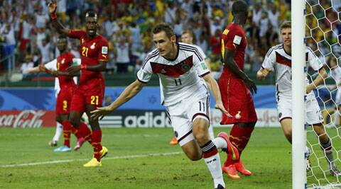 Klose scored the equaliser from close range with his first touch less than two minutes after coming off the bench in a 2-2 draw in Group G (Source: Reuters)