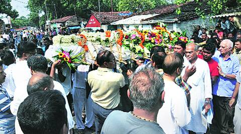 The funeral procession of H K Maheshwari on the way to Babughat, Bhadreshwar, in Hooghly, on Tuesday.Source: Subham Dutta