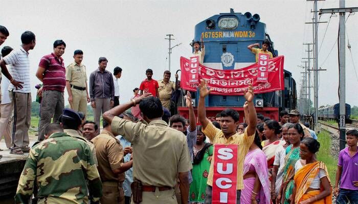 Protest against railway fare hike
