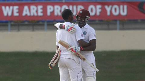 Kraigg Brathwaite scored a patient 129 to register his maiden Test hundred (Source: AP)