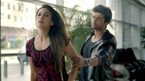 A still from Kushal and Gauahar's Zaroori Tha.