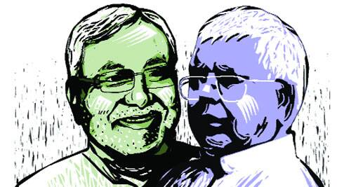 Nitish's JD(U) contested in alliance with the CPI, and Lalu Prasad's RJD with the Congress and the NCP.