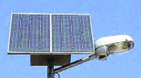 Solar lights do not have much illumination and is useful in places like gardens and slums but cannot be used on busy streets.