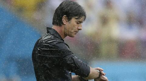Loew  was seen flailing his arms and shouting angrily in stoppage time on Thursday. (Source: AP)