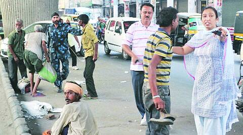 The drive was started 15 days back when 16 beggars were caught and groomed. (Source: Express photo by Gurmeet Singh)