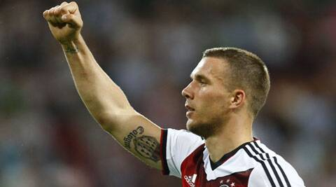Two years after joining the national team, Podolski earned the best young player award at the 2006 World Cup _ ahead of Lionel Messi and Cristiano Ronaldo _ and became one of the team's regulars. (Source: Reuters)