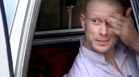 Sgt. Bowe Bergdahl, sits in a vehicle guarded by the Taliban in eastern Afghanistan. (Source: AP)