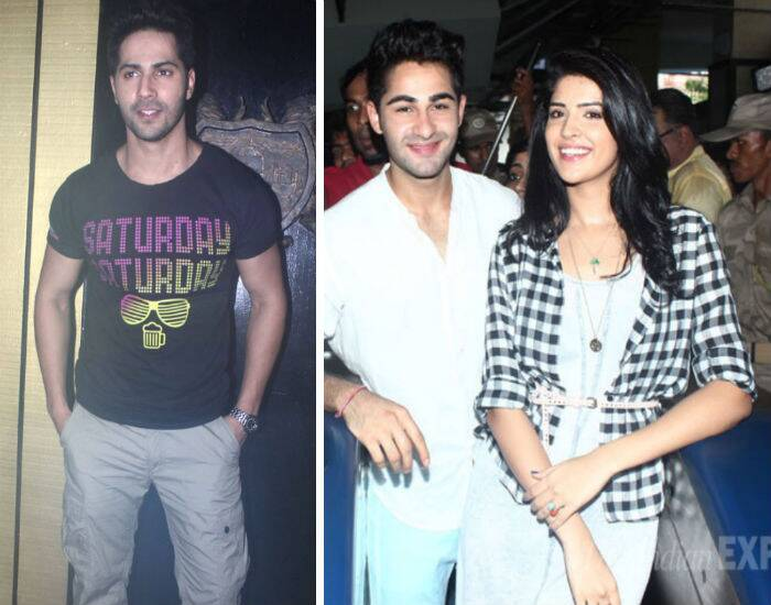Bollywood youngsters Varun Dhawan, Armaan Jain and Deeksha Seth had a busy Friday. While Varun tired his skill at deejaying on Friday night, Armaan and Deeksha promoted their upcoming film, 'Lekar Hum Deewana Dil'.