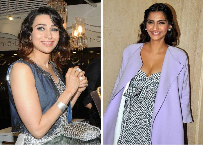Bollywood actresses Sonam Kapoor and Karisma Kapoor were busy with their respective commitments on Friday (June 20).