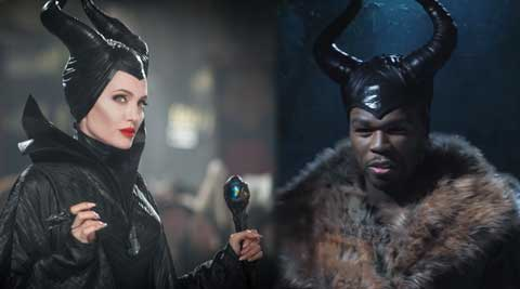 Rapper 50 Cent poked fun at the latest Disney blockbuster 'Maleficent' starring Angelina Jolie.