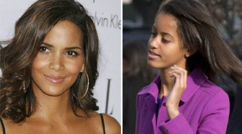 Malia worked as a production assistant for one day on the filming set.