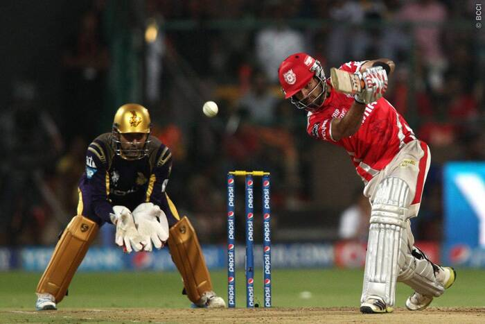 Find of this IPL, Manan Vohra was again at his best and took the attack to KKR bowlers. Vohra smashed a 52-ball 67 before being out caught and bowled by Piyush Chawla. (Source: BCCI/IPL)