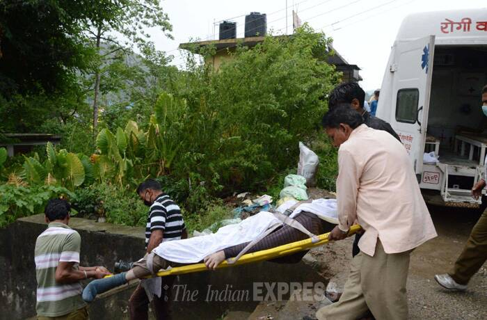 One more body of a student was recovered from Beas river today eleven days after 25 persons, including 24 students from a Hyderabad engineering college, were swept away in the river. The deceased has been identified as P Venkata Durga Tarun, Mandi SP, R S Negi said. (Source: Express photo by Lalit Kumar)