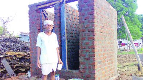 Mansaram Yadav has built two toilets at his home, from his own money. Soon there will be no homes in Zeetudhana without a toilet