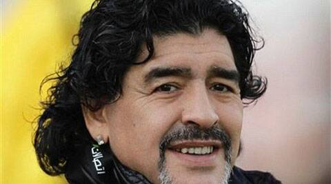 Maradona has been working as a television pundit during the tournament but said he was unable to take a seat. (Source: AP File)