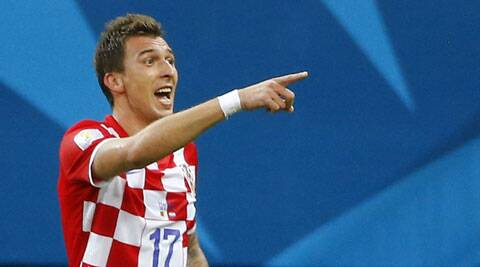 Croatia's Mario Mandzukic celebrates after scoring a goal against Cameroon (Source: Reuters)