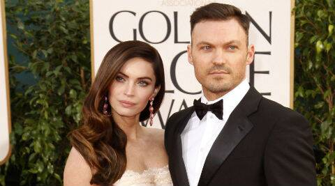 Megan Foz and Brian Austin Green have sons Noah, 20 months, and Bodhi, four months. (Source: Reuters)