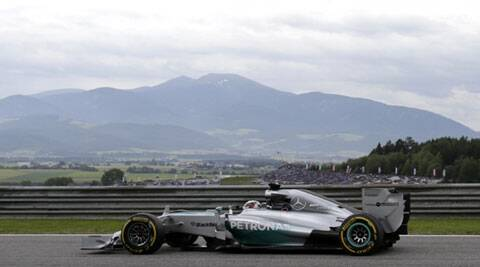 Rosberg's best time on the 4.3-kilometer Red Bull Ring was 1 minute, 11.295 seconds, beating teammate Hamilton's fastest lap by 0.140. (Source: Reuters)