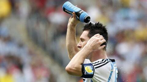 Lionel Messi takes a breather after the match against Nigeria (Source: Reuters)