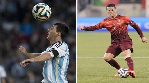 The weight of Argentinian hopes rests on Messi's (L) shoulders. Portugal are desperate for Ronaldo's (R) goals to get out of one of the most difficult groups in the contest. (Source: AP)