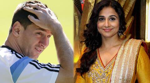Vidya Balan confessed her love for football is just limited to Lionel Messi's good looks.