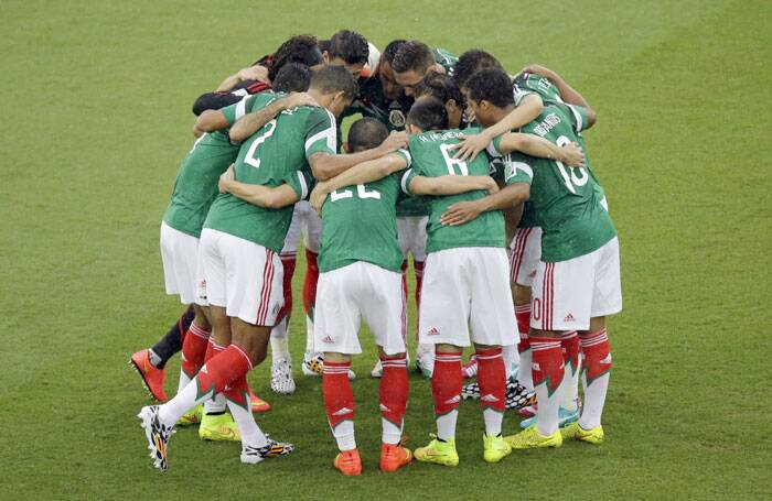 In the second match of the World Cup and Group A, Mexico played Cameroon in Natal on Friday. (Source: AP)