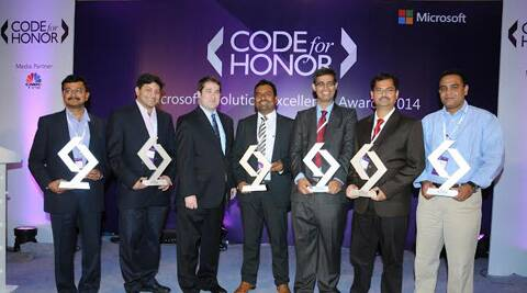 Winners of Microsoft's 'Code for Honor' contest.