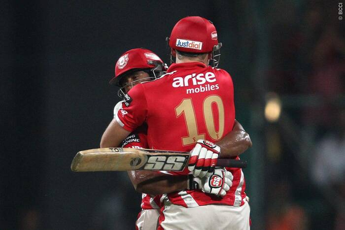 With both Glenn Maxwell and David Miller not scoring a single run in the final, KXIP still reached a competitive total of 199/4, thanks to an unbeaten century by Wriddhiman Saha. He also became he first player to score an IPL century in the final. (Source: BCCI/IPL)