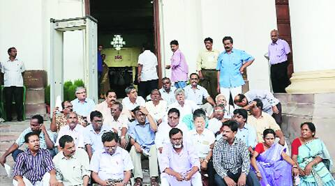 Left MLAs boycott Assembly session in protest against the CEO's killing, in Kolkata on Monday. Source: PTI