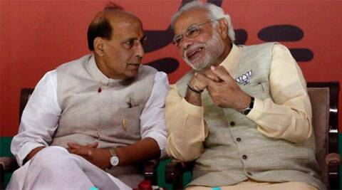 PM Narendra Modi with Home Minister Rajnath Singh. (Source: Reuters)