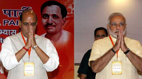 The meeting was attended by Narendra Modi and Rajnath Singh among others. (Express Photo by Prem Nath Pandey)