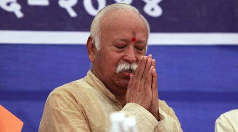 Some giving credit to party, others to some individuals, says Mohan Bhagwat. (Source: Express Photo by Bhupendra Rana)