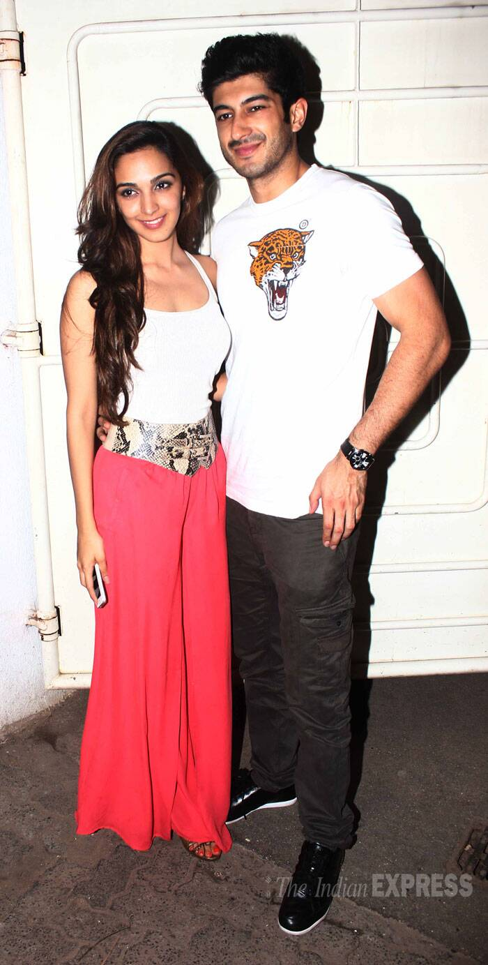 Meanwhile, 'Fugly' actors Mohit Marwah and Kiara Advani attended a special screening of their film. (Source: Varinder Chawla)