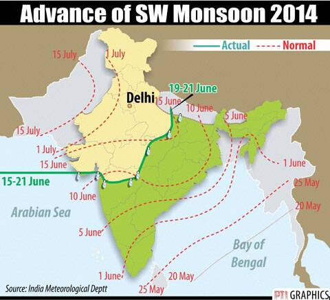 ADVANCE OF SW MONSOON 2014
