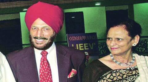 Milkha Singh with wife Nirmal Kaur (Source: Express photos)