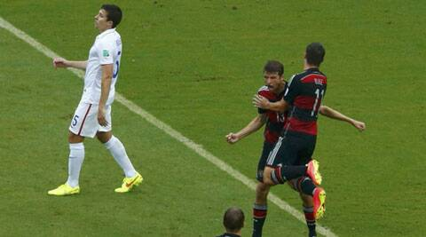 Mueller scored in the 55th minute with a side-footed shot from the edge of the area. (Source: AP)