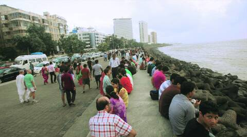 The spot at Marine Drive on Sunday. Source: Kevin D'Souza