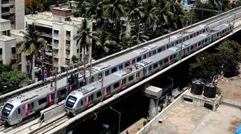 Metro operations were launched in Mumbai on Sunday from Versova. (Source: PTI)