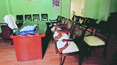Gopinath Munde's office a day after his death. file