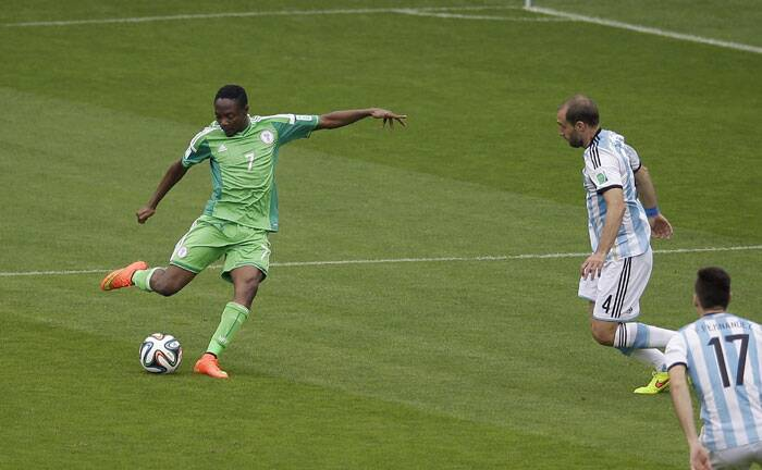 Seconds after Messi netted Argentina's first goal, Nigeria's Ahmed Musa scored an equalizer in the fourth minute. (Source: AP)