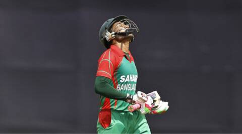 Mushfiqur appreciated debutant pacer Taksin Ahmed for his brilliant spell but said that the batsmen let them down. (Source: AP)
